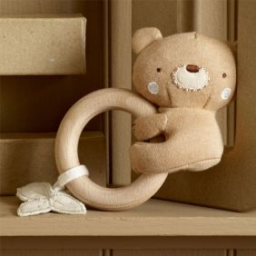 Teddy Teething Rattle Baby Gift